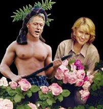 Bill & Martha in rose garden