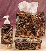 Animal Print Bath Accessories