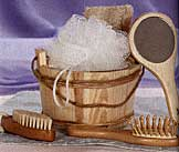 Wooden Bath Accessory Set